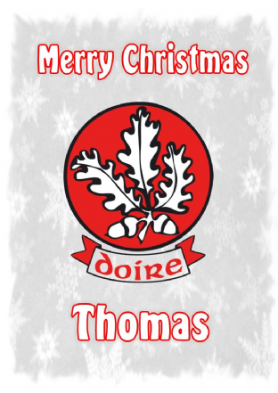 Personalised Derry Crest Christmas Card
